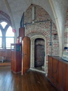 Eingangstür zur Aussichtsplattform Langer Jan von Middelburg
