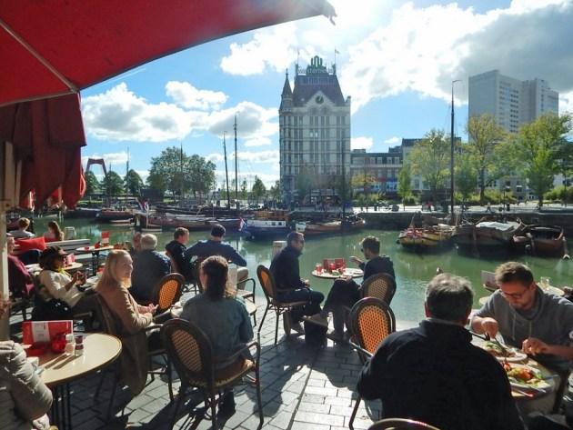 Restaurant im Alten Hafen von Rotterdam