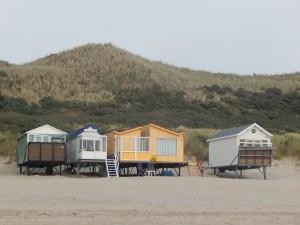 Strandhäuser am Strand von Dishoek