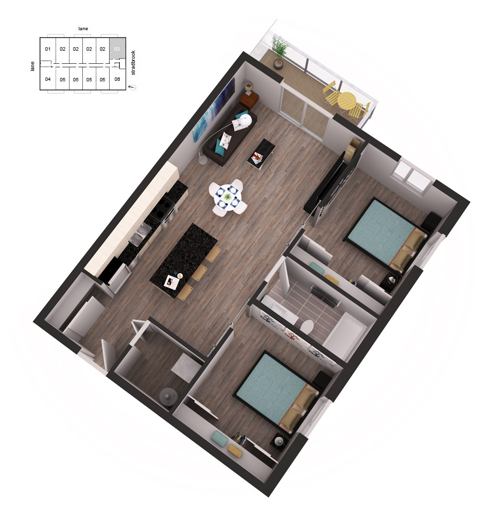 3D Floor Plan Unit 31