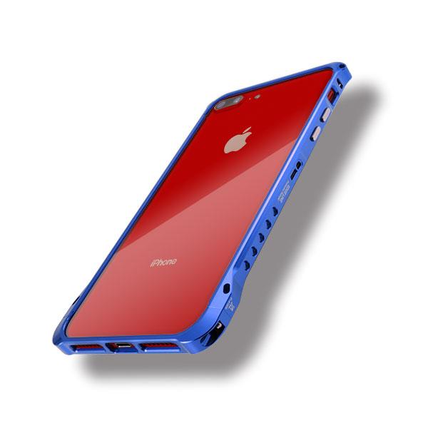 iPhone8プラスにエッジラインのブルー