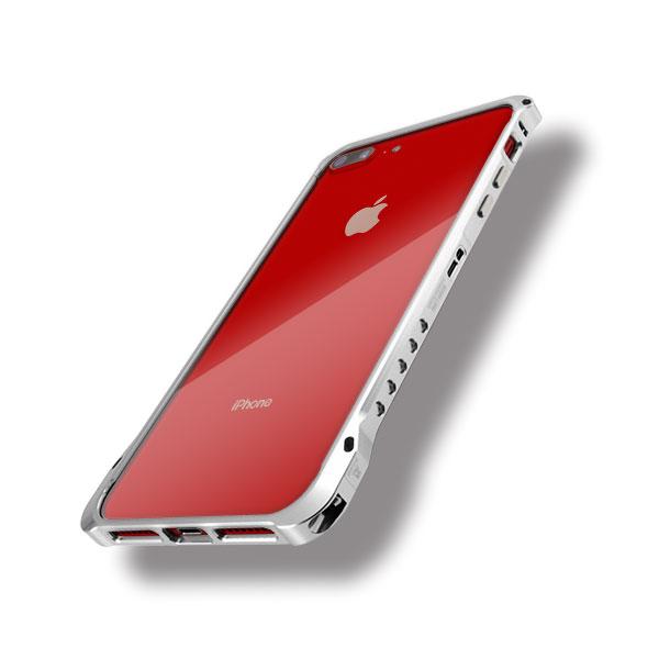 iPhone8プラスにエッジラインのシルバー