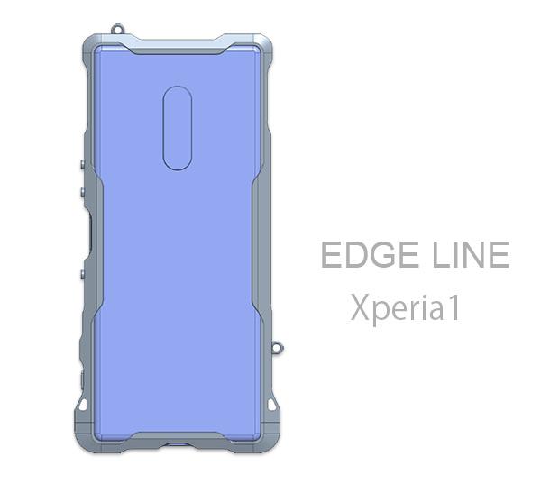 Xperia1のエッジライン背面側設計