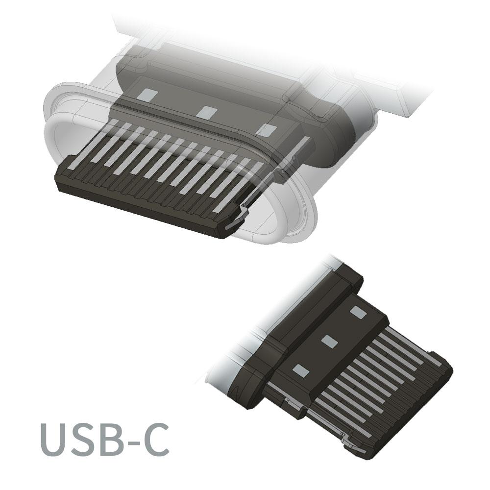 USB-Cの内部オス側