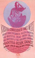 Plakát na festival Mantra-rock dance v únoru 1967 v San Franciscu.