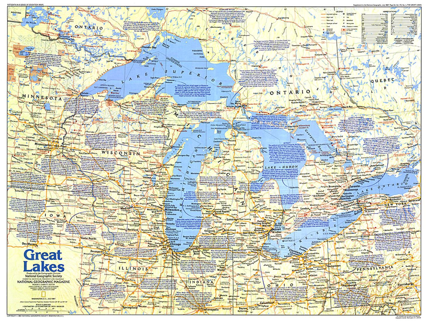 Great Lakes Map Side 1 By National Geographic Maps