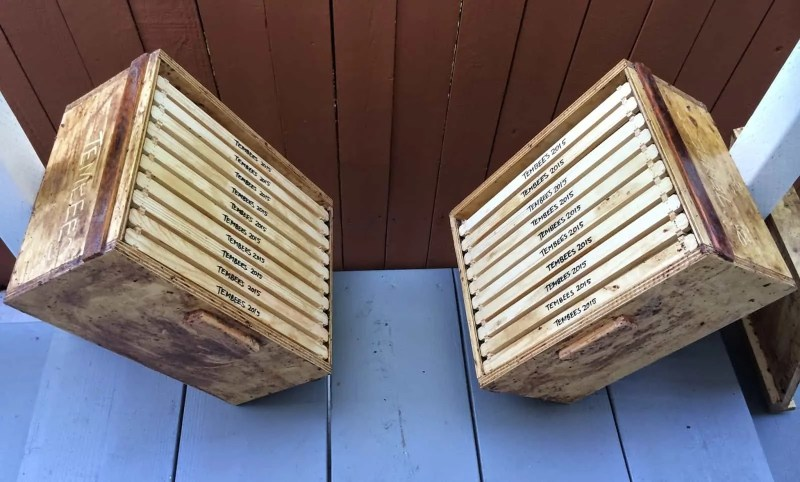 Home Made Hives, with Hand Assembled Foundationless Frames