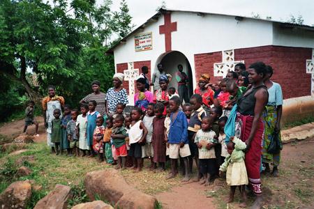 Waisenkinder und Frauen, Bvumbwe/Malawi