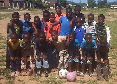 Fussballfans auf der Kidsweek