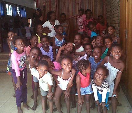 Mädchen einer Tanzgruppe auf der Kidsweek