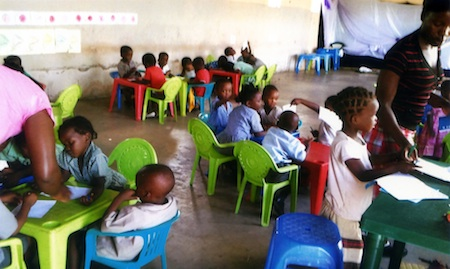 Pre-school children at the Mahlabaneni Development Project