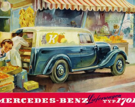 MercedeseBenz Advertisement Illustrated by Hans Lisker