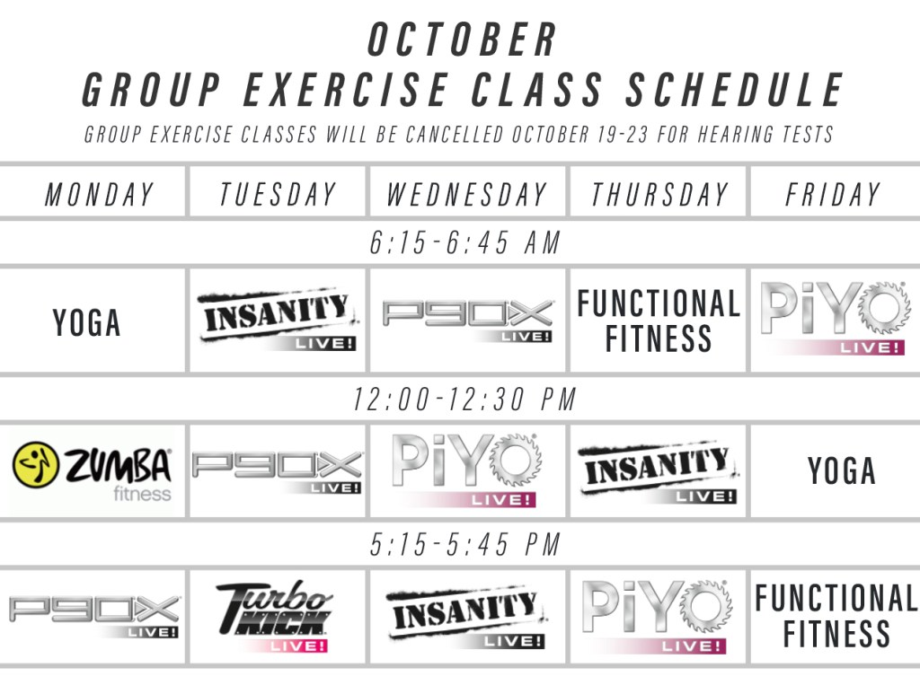 Oct 2020 group classes