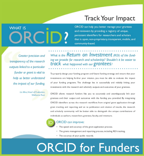 ORCID Flier for Funders