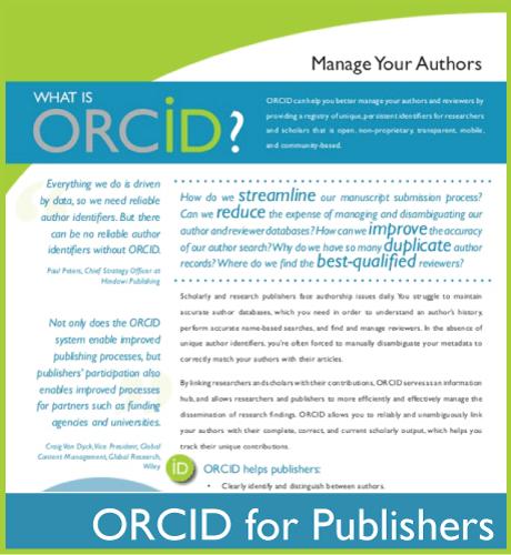 ORCID for Publishers Flier