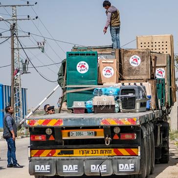 Am 7. April startete VIER PFOTEN mit den 47 Tieren vom Gazastreifen in das 300 Kilometer entfernte Jordanien.