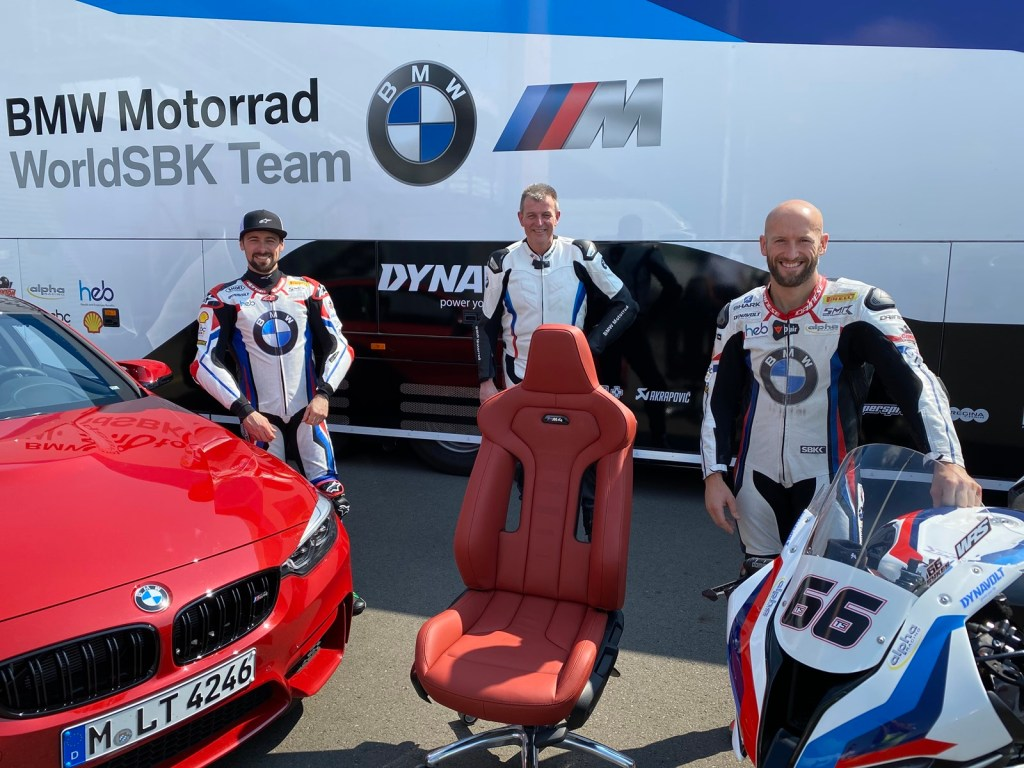 The seat of a BMW M4 Competition as an office chair is the most