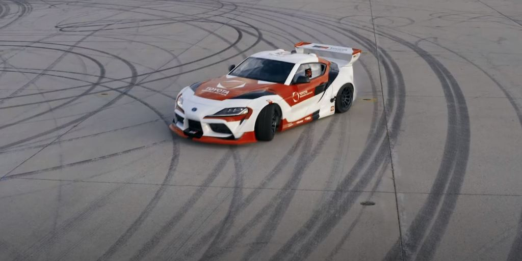 This Toyota Supra Drifts autonomously in the name of science and safety