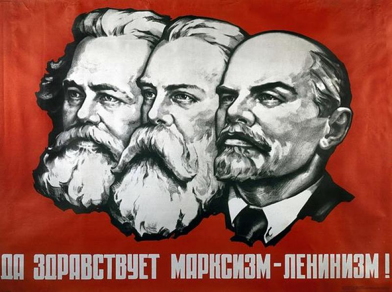 poster-depicting-karl-marx-friedrich-engels-and-lenin-unknown