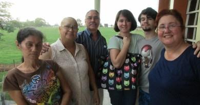 Maritza visitando ern familia
