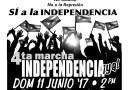 ¡La marcha se integra a la de Independencia Ya!