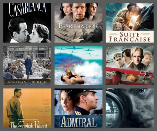 34 filme despre dragoste in vremea razboaielor mondiale
