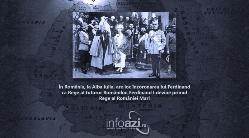 În România, la Alba Iulia, Ferdinand este încoronat Rege al tuturor românilor. Ferdinand I devine primul Rege al României Mari