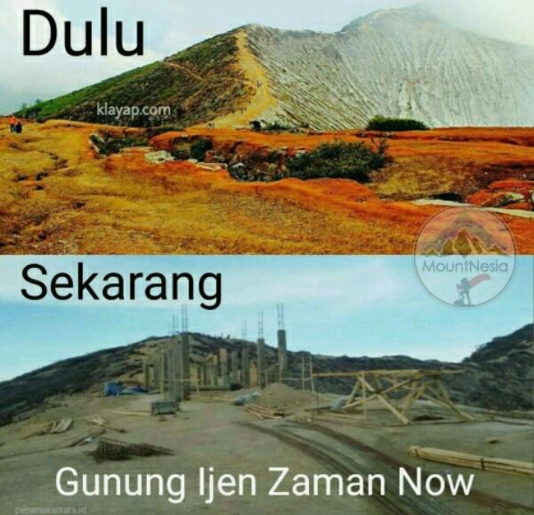 Jokowi Diminta Stop Pembangunan di Puncak Ijen