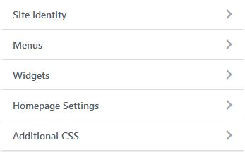 Sections in WordPress Customizer