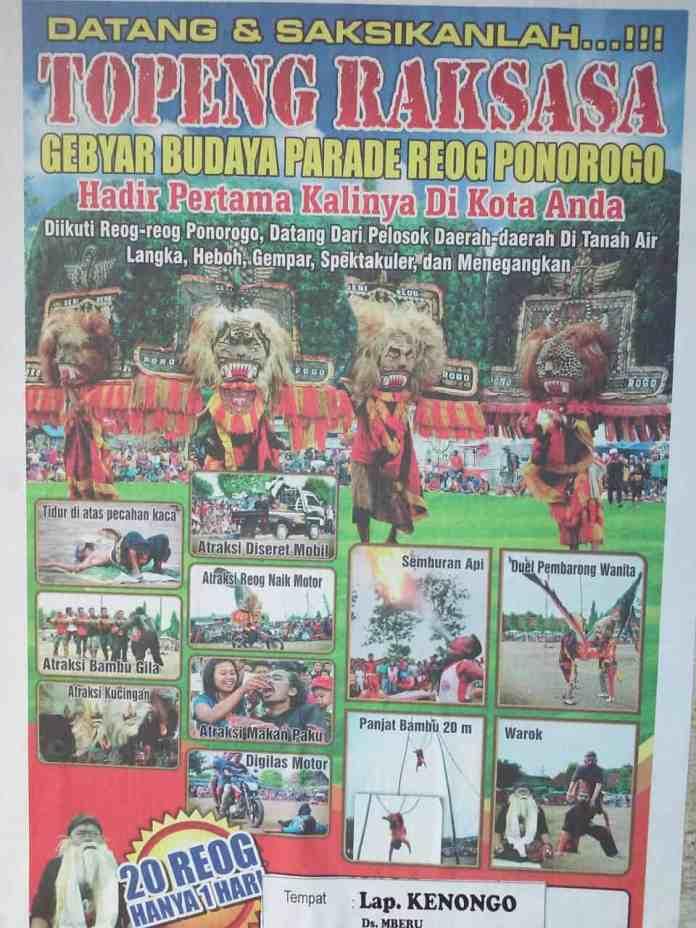 Poster Parade Reog di Beru Wlingi