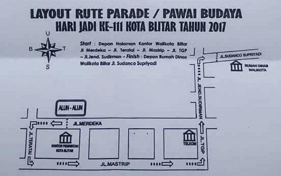 Rute Pawai Budaya