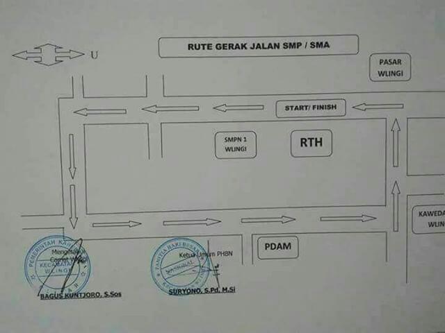 Rute Gerak Jalan SMP SMA Wlingi