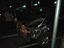 Kecelakaan Mobil vs Mobil di TMP Kota Blitar