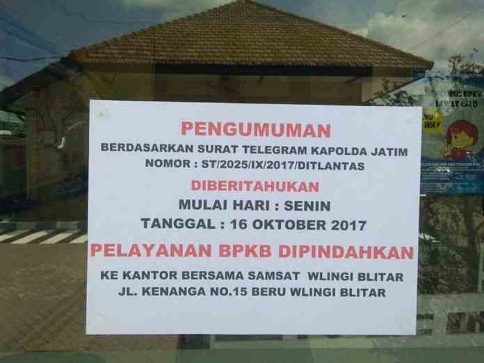 Pelayanan BPKB Pindah