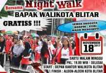 Blitar Night Walk bersama Walikota Blitar