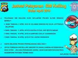 SIM Keliling April 2018