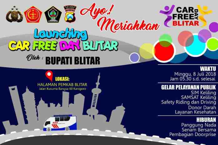 Car Free Day di Blitar