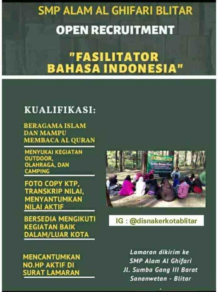 Dibutuhkan Fasilitator Bahasa Indonesia