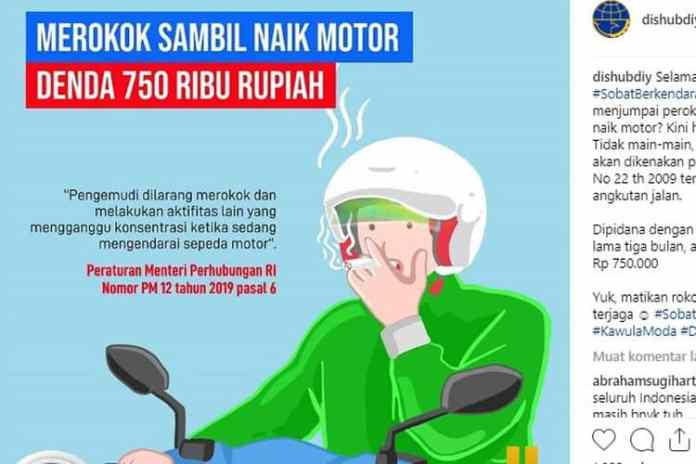 Larangan Merokok Motor