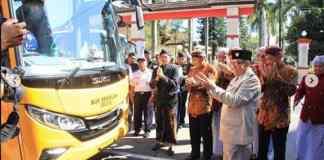 Peresmian Bus Sekolah Gratis di Hari Jadi Kota Blitar ke 113