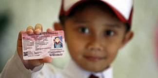 Peluncuran kartu identitas anak. Sumber foto dari Tirto dot id