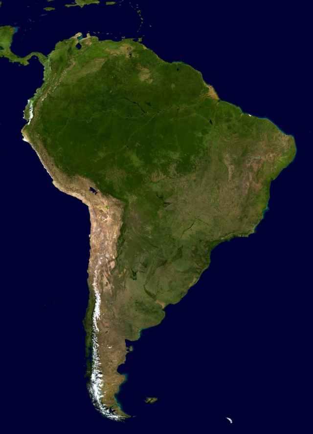 map illustration Mercosur