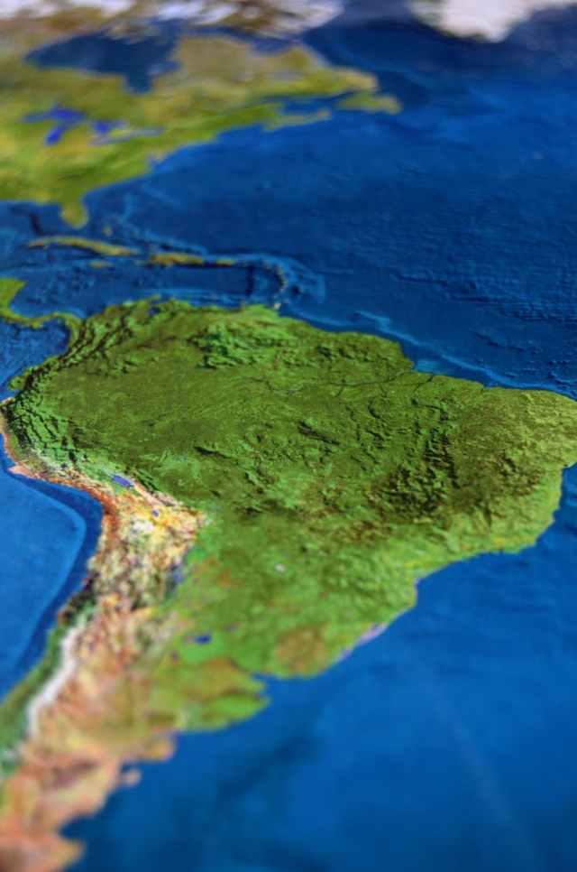 map atlas South America Mercosur