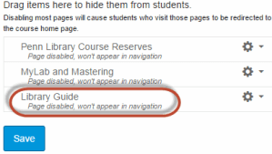 """""""Library Guide"""" button circled in red for emphasis."""