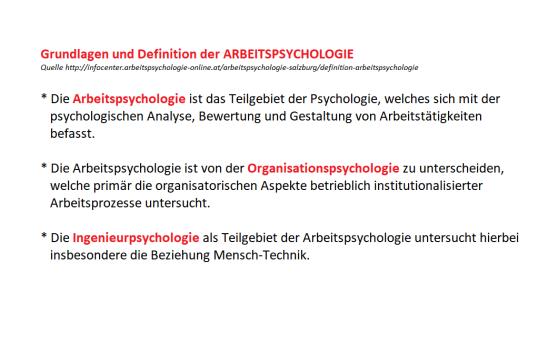 Arbeitspsychologie_Grundlage_Definition