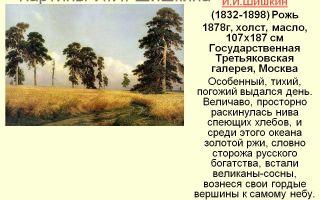 Описание картины ивана шишкина «рожь» - Описание картин