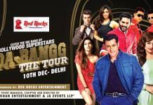 Salman Khan in Delhi (10 Dec) at JLN Stadium on Da-bangg Tour with Sonakshi Sinha and Prabhu Deva