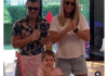 Australian cricketer David Warner performs on Indian song on TikTok with his wife and daughter