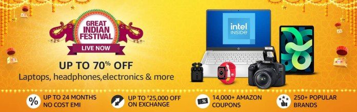 Amazon Great Indian Festival Sale Offers, Big Discount Produc