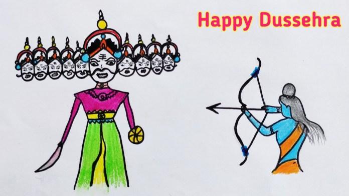 Dussehra Images Drawing, Vijayadashami HD Wallpaper, Wishes Quotes Photos
